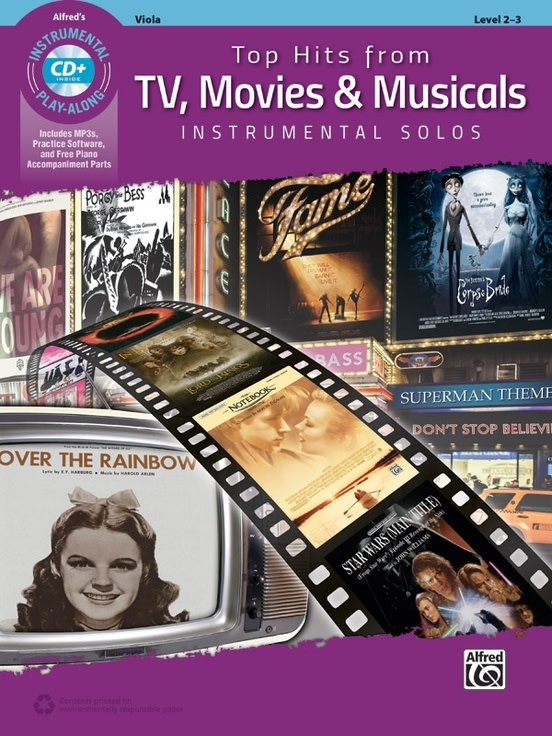 Alfred Music Top Hits from TV, Movies & Musicals Instrumental Solos for Strings (Viola Book & CD) Alfred