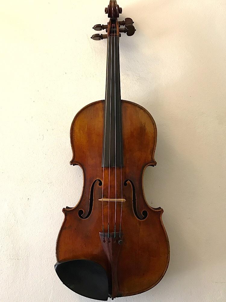 "French Grandjon school 4/4 violin labeled ""Strad"""