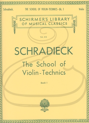 HAL LEONARD Schradieck: The School of Violin-Technics, Book 1 (violin) Schirmer