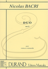 HAL LEONARD Bacri: Duo, Op.25 (violin & cello) Editions Durand