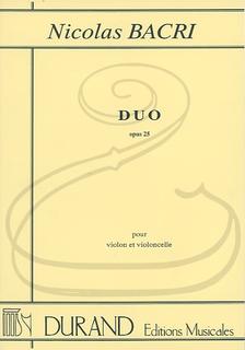 HAL LEONARD Bacri: Duo, Op.25 (violin & cello) Editions Durand