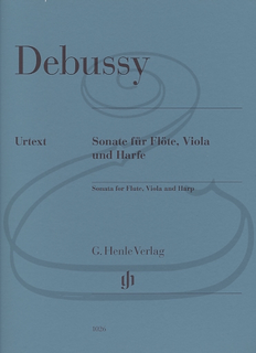 HAL LEONARD Debussy (Jost): (score/parts) Sonata for Flute, Viola, & Harp - URTEXT (viola, flute, & harp) Henle Verlag