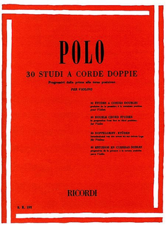 RICORDI Polo: 30 Double Chord Studies (violin) Ricordi