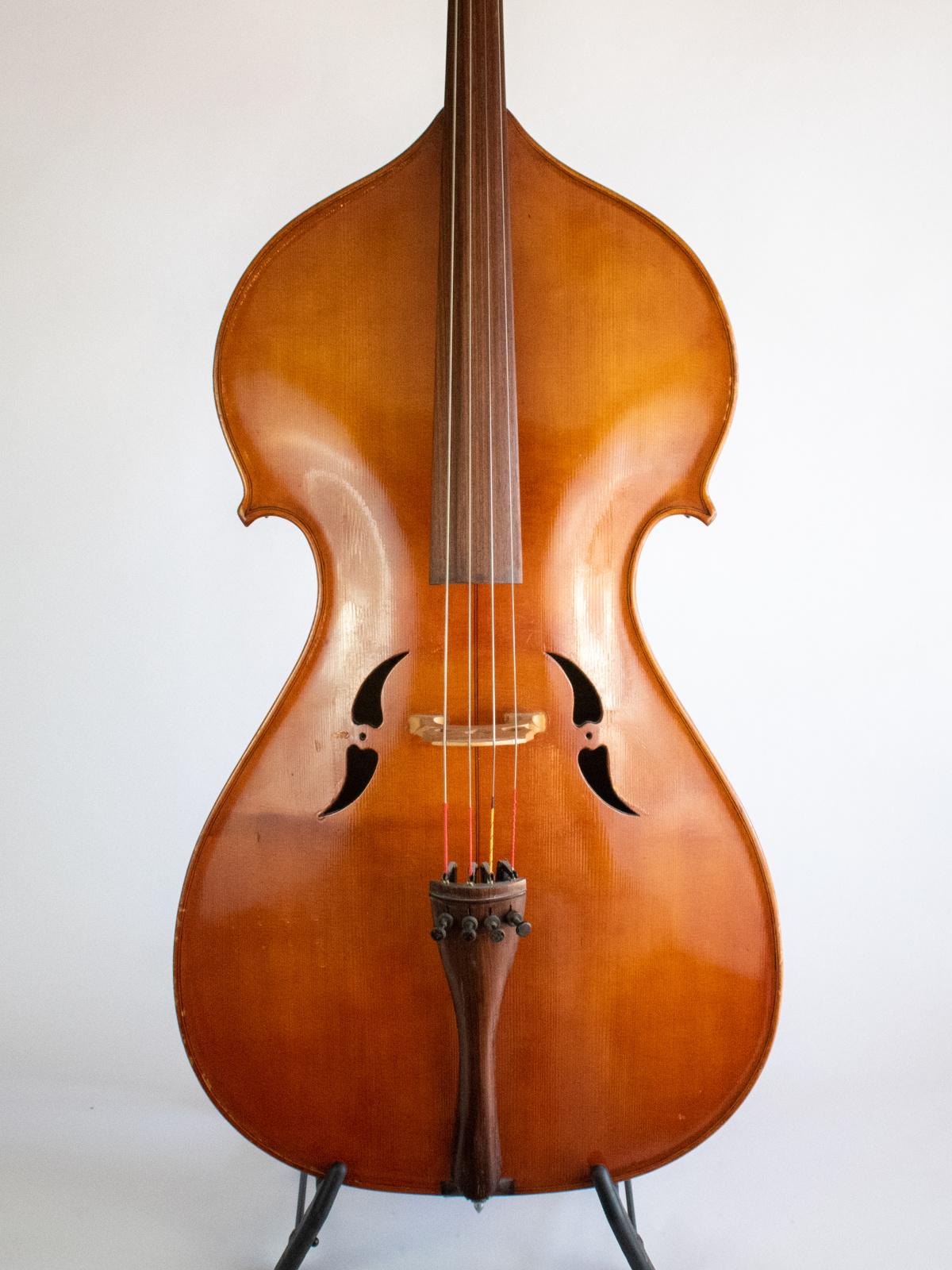 John Uglow cello with horse-head, 1934 Dallas, Oregon