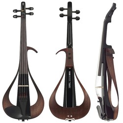Yamaha Yamaha violin outfit, YEV-104SBL, 4-string Electric with black body, case, bow & rosin