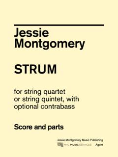 Jessie Montgomery Music Montgomery, Jessie: Strum for String Quartet, NYC Music Services