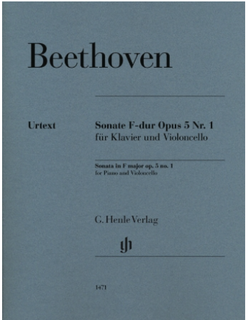 Beethoven: Cello Sonata in G Minor, Op. 5, No. 1 (cello and piano) Henle