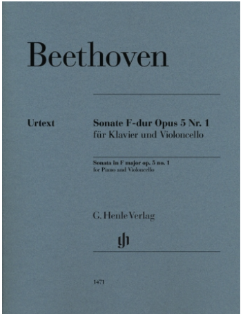 Beethoven: Cello Sonata in G Minor, Op. 5, No. 1 (cello and piano) Henle