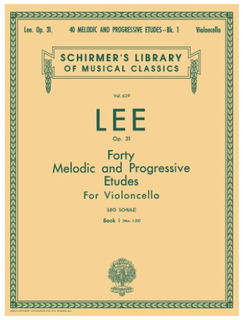 Schirmer LEE: 40 Melodic and Progressive Etudes, Op. 31 – Book 1 (cello) Schirmer