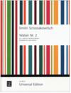 Universal Edition Shostakovich (Schostakowitsch): Walzer Nr2 (two violins) UE