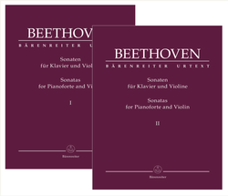 Barenreiter Beethoven: Sonatas for Pianoforte and Violin (violin and piano) Barenreiter