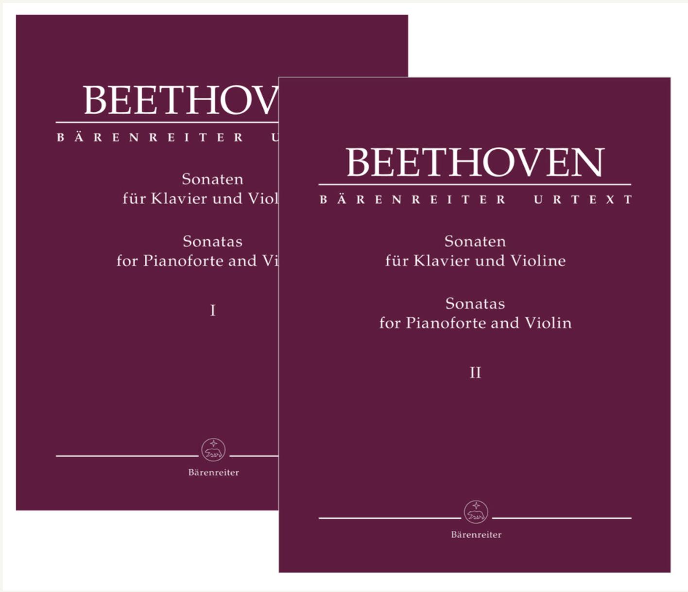 Barenreiter Beethoven: Sonatas for Pianoforte and Violin (violin and piano) Barenreiter