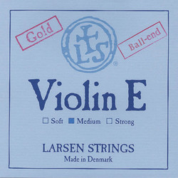 Larsen Larsen Original violin E string, gold medium ball-end