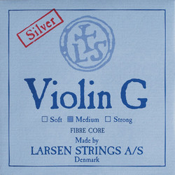Larsen Larsen Original violin G string, medium silver wound, synthetic core