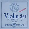 Larsen Larsen Original violin string set, medium, w. steel E & alum. D,