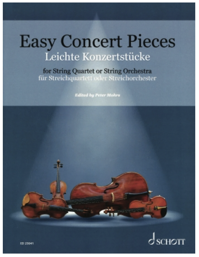 Schott Music Mohrs: Easy Concert Pieces: 26 Easy Concert Pieces from 4 Centuries (string quartet)