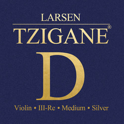 Larsen Tzigane violin D string medium by Larsen