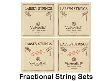 Cello Strings, Larsen Fractional Sizes