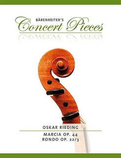 Barenreiter Rieding, Oskar (Sassmannshaus): Marcia Op. 44, and Rondo op. 22/3 (violin & piano) Barenreiter