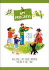 Barenreiter Barenreiter: My Progress - Music Lesson Book - Manuscript Notebook w/ Stickers