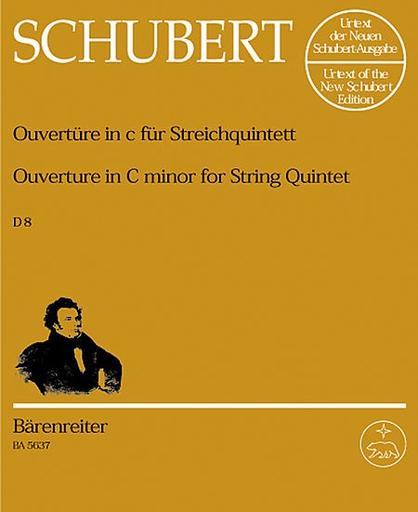 Barenreiter Schubert, Franz (Chusid): Overture in c minor Urtext (2 violins, 2 violas, Cello), Barenreiter