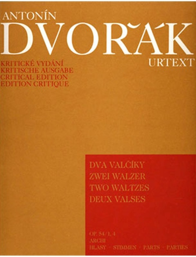Barenreiter Dvorak, Antonin: Two Waltzes Op. 54 No. 1 in A, No. 4 in D-flat (String Quartet), Barenreiter
