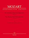 Barenreiter Mozart, W.A. (Fuessl): Thirteen Early String Quartets, Vol. 1 - No. 1-4, Barenreiter Urtext