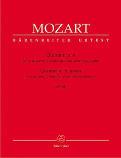 Barenreiter Mozart, W.A. (Schmid): Clarinet Quintet in A K.581 (clarinet, 2 violins, viola, cello) Barenreiter