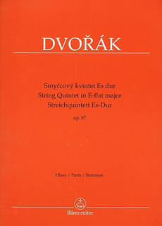 Barenreiter Dvorak, Antonin: Quintet in Eb Major Op.97 (2 violins, 2 violas, cello) Barenreiter