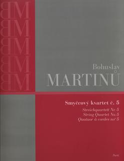 Barenreiter Martinu, Bohuslav: String Quartet No. 5, Barenreiter