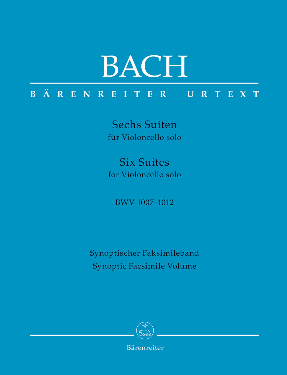 Barenreiter Bach, J.S. (Talle): 6 Suites for Cello Solo, BWV1007-1012, Synoptic facsimile volume (cello) Barenreiter