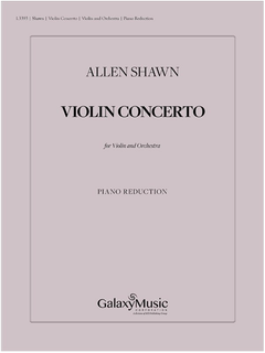 Galaxy Music Shawn: Violin Concerto (violin and piano) Galaxy