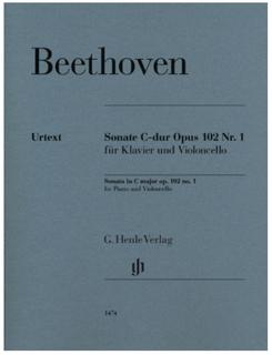 Beethoven: Cello Sonata in C Major, Op. 102, No. 1 (cello and piano) Henle