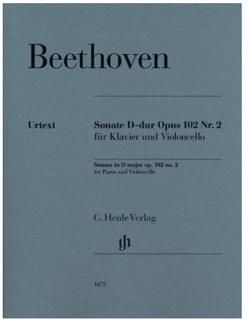 Beethoven: Cello Sonata in D Major Op. 102, No. 2 (cello and piano) Henle