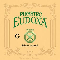 Pirastro Pirastro EUDOXA violin G string, silver wound on gut, 15 3/4, in envelope
