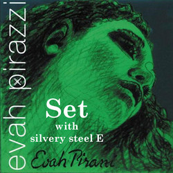 Pirastro Pirastro EVAH PIRAZZI violin medium string SET with silvery steel E,