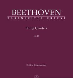 Barenreiter Beethoven (Del Mar): String Quartets, Op.18, Nos.1-6, Critical Commentary, Barenreiter