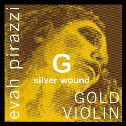 Pirastro Pirastro EVAH PIRAZZI GOLD violin G string, SILVER-wound, medium