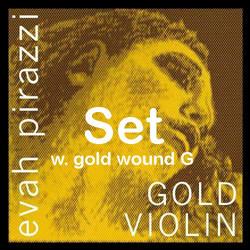 Pirastro Pirastro EVAH PIRAZZI GOLD violin string set with gold-wound G,