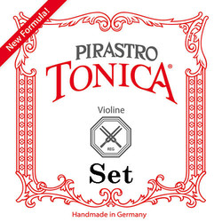 Pirastro Pirastro TONICA violin string set, medium, steel ball-end E & silver D,