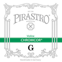 Pirastro Pirastro CHROMCOR violin G string,  steel, medium,