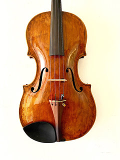 "Tirolean Matthias Albani label 16.25"" composite viola with newer head and sides."