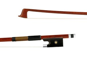 Better 4/4 unbranded student Brazilwood violin bow, nickel mounted