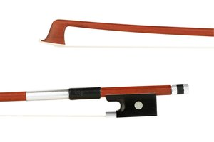 Unbranded 1/4 Brazilwood half-mounted student violin bow