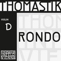 Thomastik-Infeld Rondo silver violin D string, 4/4 medium, by Thomastik-Infeld, straight