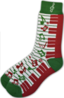 AIM Gifts Keyboard socks Red and Green Christmas (unisex size 6-12)