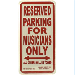 AIM Gifts Musicians Parking Only Metal Sign