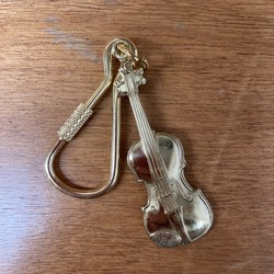 AIM Gifts Violin Key Chain - Polished Brass