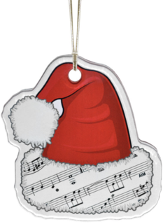 AIM Gifts Ornament Santa Hat with music