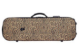 BAM BAM Leo Yellow Stylus oblong violin case, leopard print